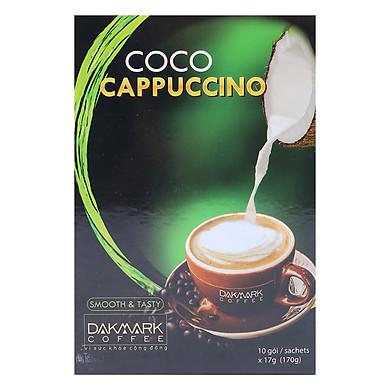 Cà Phê Cappuccino Hoà Tan Dừa DakMark (10 Gói x 17g)