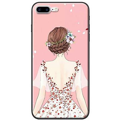 Ốp Lưng iPhone 7 Plus/ 8 Plus Cô Gái Áo Hồng