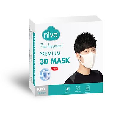 Hộp 10 Chiếc Khẩu Trang 3D Thông Minh Người Lớn Bảo Vệ Sức Khỏe An Toàn