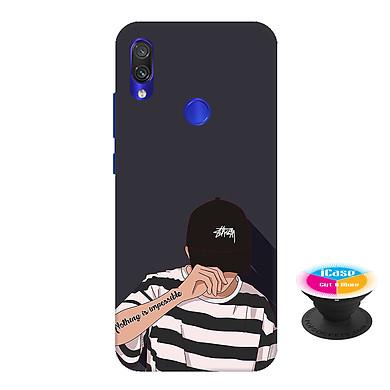 Ốp lưng nhựa dẻo dành cho Xiaomi Redmi Note 7 in hình Nothing Imposible - Tặng Popsocket in logo iCase - Hàng Chính Hãng