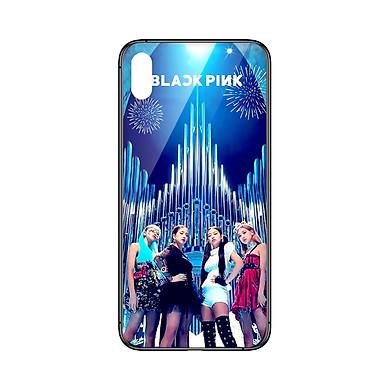 Ốp lưng CƯỜNG LỰC VIỀN ĐEN cho iPhone XS KPOP_BLACKPINK - Hàng chính hãng