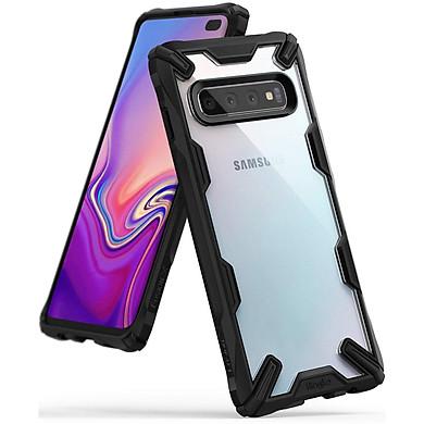 Ốp lưng chống sốc Ringke Fusion X viền đen cho Galaxy S10 series - Hàng nhập khẩu