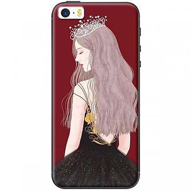Ốp lưng dành cho điện thoại iPhone 5, iPhone 5S  Mẫu Nữ hoàng