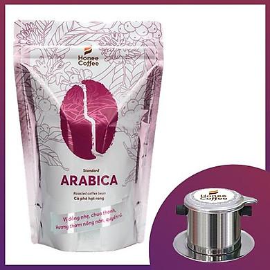 Combo Cà Phê Hạt Rang Arabica Honee Coffee 250g và Phin