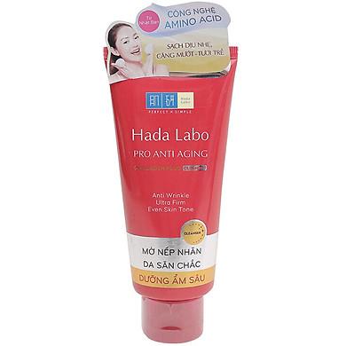 Kem Rửa Mặt Dưỡng Chuyên Biệt Chống Lão Hóa Hada Labo Pro Anti Aging Collagen Plus Cleanser (80g)