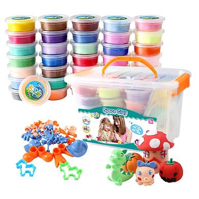 Đất Sét Đồ Chơi DIY PEIPEILE Siêu Nhẹ Kèm Hộp Nhựa Cho Trẻ Em (48 Màu)