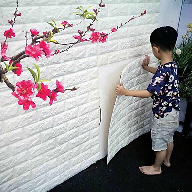 Bộ 10 Miếng Xốp Dán Tường 3D Chịu lực, chống nước, chống ẩm mốc 70x77cm DT26