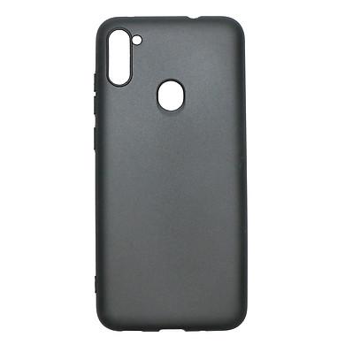 Ốp lưng cho Samsung Galaxy A11 chất liệu silicon dẻo màu đen chống sốc