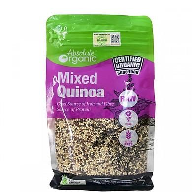 Hạt diêm mạch hữu cơ Absolute Organic Quinoa Mixed 3 loại diêm mạch (400 Grams) - Nhập khẩu Australia