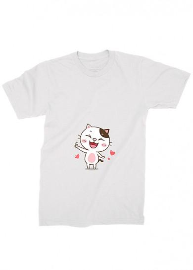 áo thun nam mèo, áo thun mào đa cảm ab10