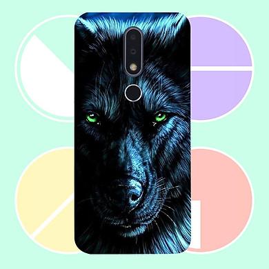 Ốp lưng  dành cho điện thoại Nokia 8.1 - Đôi mắt sói MS DMSD005 - Hàng Chính Hãng