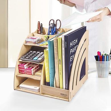 Jinlongxing (glosen) D9113 handmade DIY wood multi-function combination file box / file box / information frame wood color