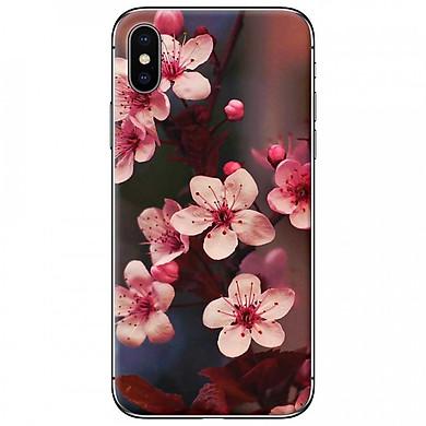 Ốp lưng dành cho iPhone X mẫu Hoa đào