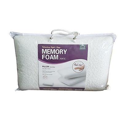 Gối Memory Foam 50D Hình Dáng Thường Lock&Lock HLW112 (50 x 30 cm) – Trắng