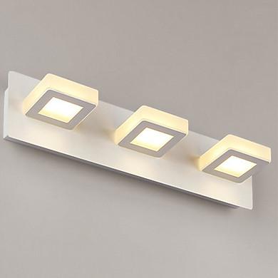 Đèn gắn tường trang trí rọi gương thiết kế hiện đại 3 ô vuông ( có 3 chế độ màu ánh sáng)