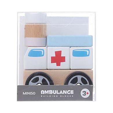 Đồ chơi gỗ Miniso xe cấp cứu 228g - Hàng chính hãng