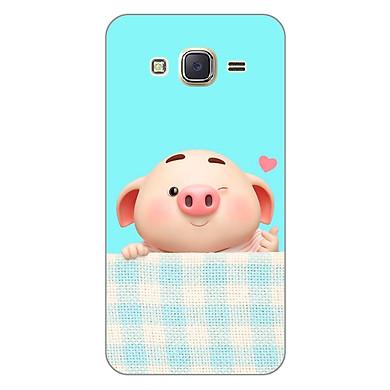 Ốp lưng dẻo cho điện thoại Samsung Galaxy J7 2016 _Pig Cute 07