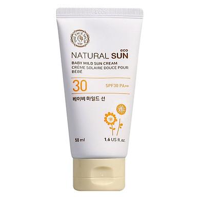 Kem Chống Nắng The Face Shop Natural Sun Eco Baby Mild Sun Cream  SPF30 PA++ 31500151 (50ml)