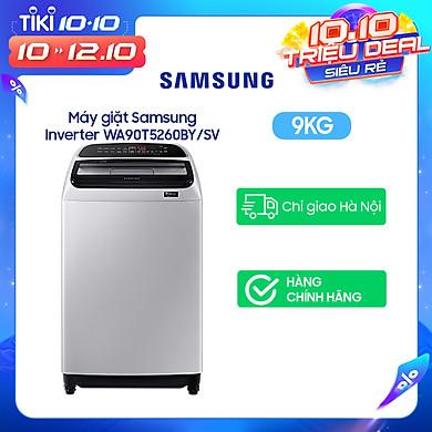 Máy Giặt Samsung Inverter 9 kg WA90T5260BY/SV – Chỉ giao Hà Nội