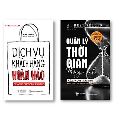 Bộ sách  Quản lý thời gian thông minh của người thành đạt: Bí quyết thành công của triệu phú Anh và  Dịch Vụ Khách Hàng Hoàn Hảo: Be your customer's hero kt