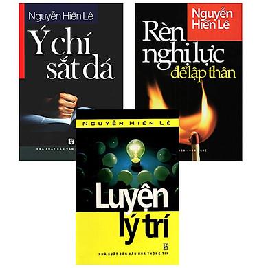 Bộ 3 Cuốn Rèn Nghị Lực Để Lập Thân + Ý Chí Sắt Đá + Luyện Lý Trí - Tủ Sách Nguyễn Hiến Lê
