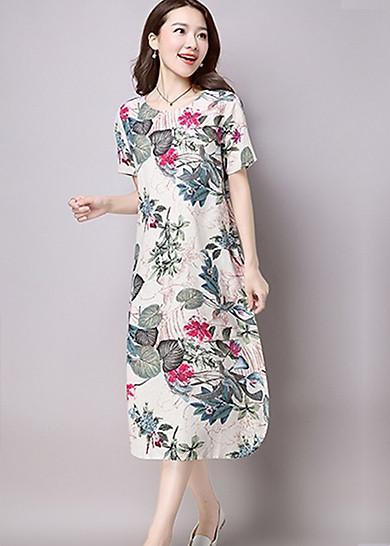 Đầm suông dài hoa lá Haint Boutique da143