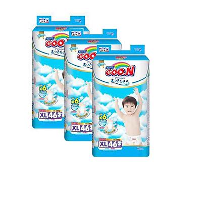 Combo 3 bịch Tã Dán Goo.n Premium Gói Cực Đại XL46 (46 Miếng)