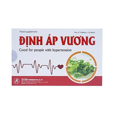 Thực phẩm bảo vệ sức khỏe Định Áp Vương giúp, giảm lipid máu và ổn định huyết áp (Tặng mũ trùm đầu chồng thấm nước khi tắm)