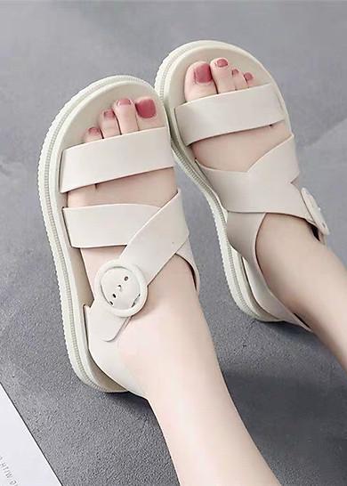 Sandal nữ dép thời trang nhựa dẻo đi mưa