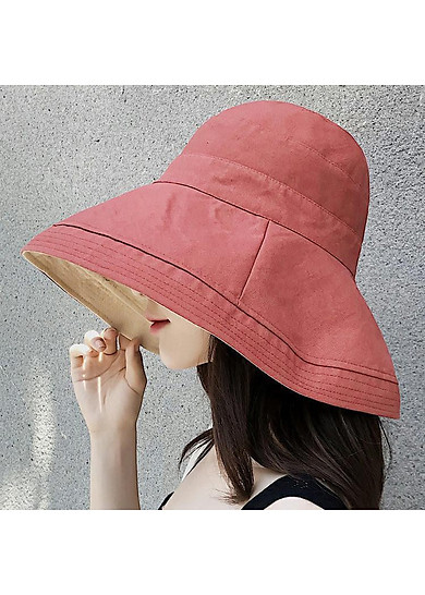 Mũ vải hai mặt rộng vành siêu mát