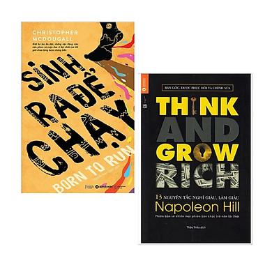 Combo Sách Kinh Tế - Kỹ Năng Làm Việc:  13 Nguyên Tắc Nghĩ Giàu Làm Giàu - Think And Grow Rich (Tái Bản) + Sinh Ra Để Chạy - (Bộ 2 Cuốn Sách / Sách Bán Chạy / Sách Hot / Tặng Kèm Postcrd Greenlife)