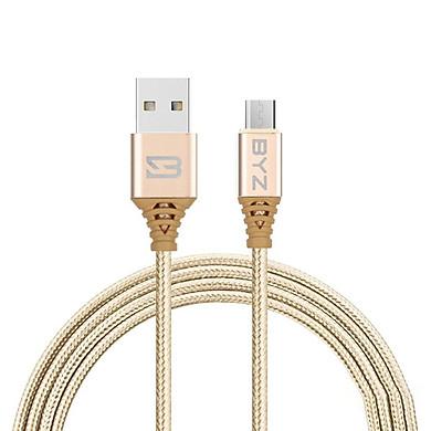 Cáp sạc BYZ BC - 090m cổng Micro USB dài 3m - hỗ trợ sạc nhanh 2.1A - Hàng Chính Hãng