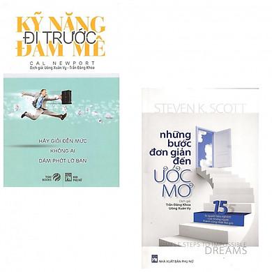 Combo 2 cuốn Kỹ Năng Đi Trước Đam Mê, Những Bước Đơn Giản Đến Ước Mơ (Tái Bản 2014) (tặng kèm 2 bút bi hình - Giao ngẫu nhiên)