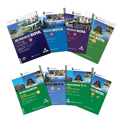 Combo Trọn Bộ 8 Cuốn Giáo Trình Hán Ngữ BoyaSơ - Trung Cấp ( Tặng kèm Sách tự học tiếng Trung dành cho nhân viên văn phòng )