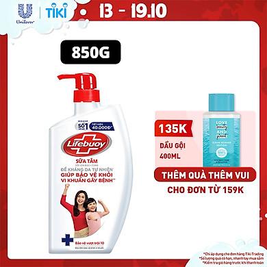 Sữa tắm 850g Lifebuoy Sạch khuẩn Bảo vệ khỏi 99.9% vi khuẩn gây bệnh tốt nhất Bảo vệ vượt trội 10 Mạnh mẽ với thành phần chứa ion Bạc+ hỗ trợ cùng…