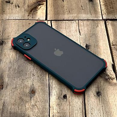 Ốp lưng chống sốc toàn phần màu xanh lá đậm dành cho iPhone 11