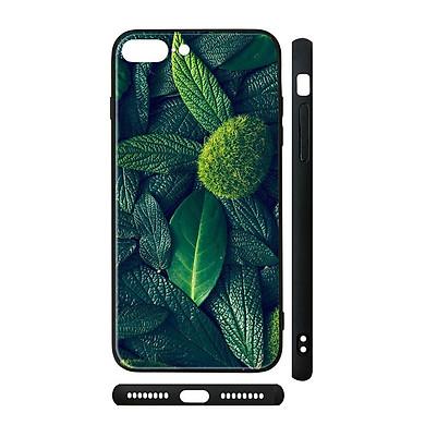 Ốp kính cho iPhone in hình Thiên nhiên và lá cây - tnx020 (có đủ mã máy)