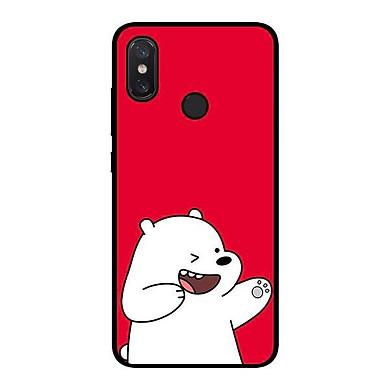 Ốp lưng dành cho điện thoại Xiaomi Redmi Note 6 Pro  Gấu Nền Đỏ