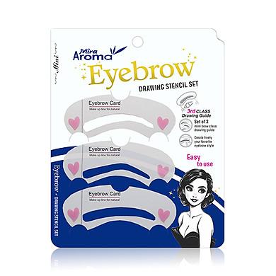 Bộ Khuôn Kẻ Chân Mày Mira Aroma Eyebrow Drawing Stencil Set ( 3 miếng/ bịch)