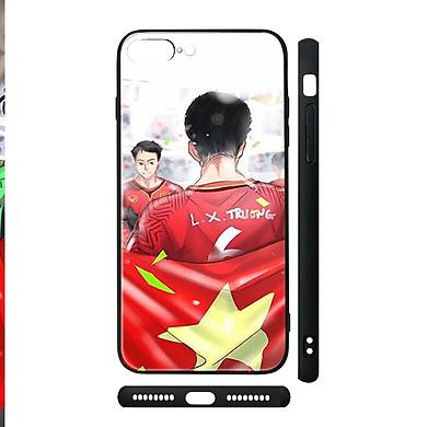 Ốp kính cho iPhone in hình U23 VietNam - Chib013 (có đủ mã máy)