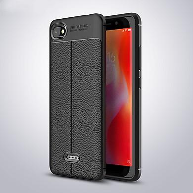 Ốp lưng Silicon Auto Focus giả da, chống sốc dành cho Xiaomi Redmi 6A - Hàng Chính Hãng