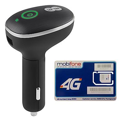 Bộ Phát Wifi 4G Cho Xe Ô Tô Huawei E8377 150Mbps + Sim Mobifone 3G/4G 120GB / Tháng - Hàng nhập khẩu