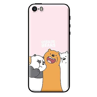 Ốp in cho iPhone 5s 3 Chú Gấu Ôm - Hàng chính hãng
