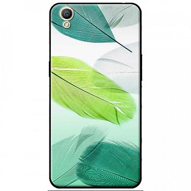 Ốp lưng dành cho Oppo F1S mẫu Lông vũ xanh lá