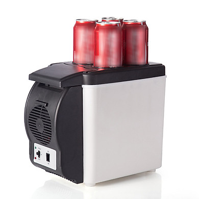 Tủ Lạnh Mini Di Động Đa Năng Có 4 Lỗ Cắm Điện (12V 6L)