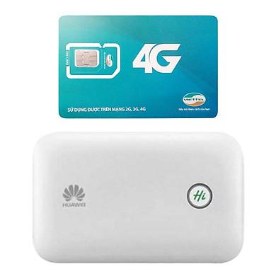 Huawei E5771   Bộ phát wifi 3G/4G tốc độ 150Mbps + Sim Viettel 4G Siêu tốc khuyến Mãi 60GB/Tháng - Hàng nhập khẩu