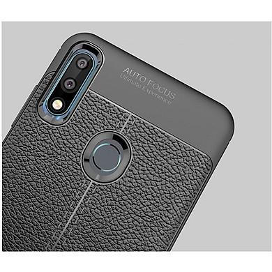 Ốp Lưng Cho Oppo Realme 3 Pro Silicon Giả Da, Chống Sốc Auto Focus - Hàng Chính Hãng