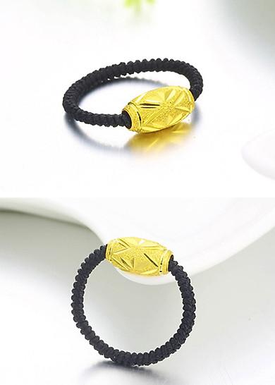 Nhẫn handmade bi trụ khắc máy Vàng 24k - ANCARAT