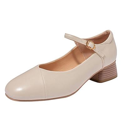 Giày Da Đế Dày 4cm Thời Trang Cho Nữ