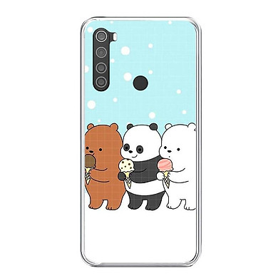 Ốp lưng dẻo cho điện thoại Xiaomi Redmi Note 8 - 0094 PANDA03 - Hàng Chính Hãng